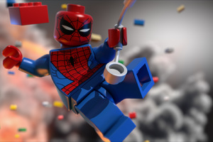 Lego Spiderman Wallpaper