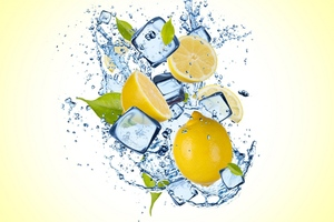 Lemon Ice Splash Wallpaper