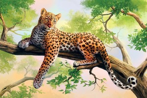 Leopard Art HD Wallpaper