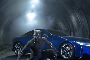 Lexus Black Panther LC 500 2018 Movie