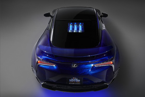 Lexus Black Panther Lc 500 Rear