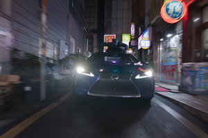 Lexus Black Panther Movie LC 500 Wallpaper