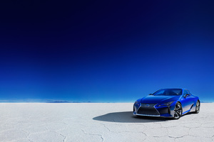 Lexus LC 500h Structural Blue 2018 Wallpaper