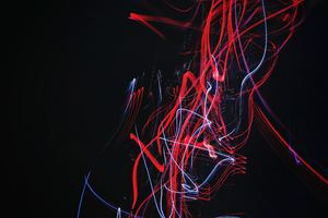 Light Trail Neon Abstract Wallpaper