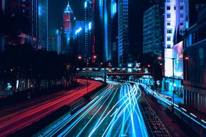 Light Trails City Wallpaper