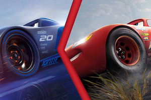 Lightning McQueen Vs Jackson Storm Cars 3 4K Wallpaper