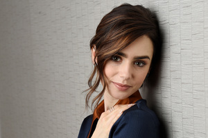 Lily Collins Cute 2017 4k Wallpaper