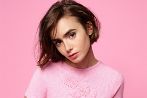 Lily Collins Cute 2018 Wallpaper