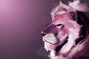 Lion Artwork 4k Wallpaper