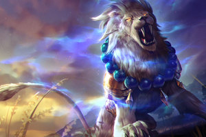 Lion Roar Colorful 4k Fantasy Artwork