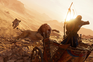 Lions Assassins Creed Origins 4k