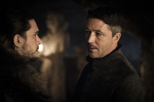 Little Finger And Jon Snow Game Of Thrones Season 7 Wallpaper