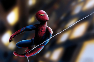 Little Spidey Boy Wallpaper