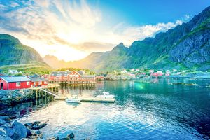 Lofoten Norway Lake