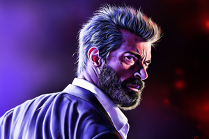 Logan Hugh Jackman Art Wallpaper