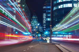 London Light Trails Wallpaper