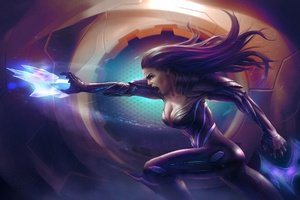 Long Hair Magic Scifi Women Wallpaper