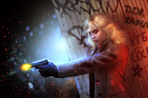 Lorraine Broughton Atomic Blonde Fictional Character Artwork Wallpaper