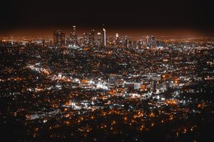 Los Angles Night View Wallpaper