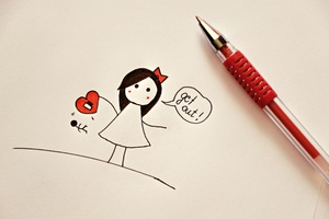 Love Heart Drawing