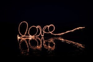 Love Light Paint Wallpaper