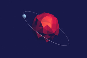 Low Poly Space Art