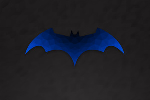 Low Polygon Batman Logo Wallpaper