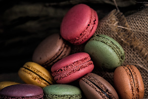 Macaroon Cookies Wallpaper