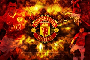 Machester United Inscription Players Club Wallpaper