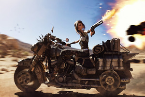 Mad Max Biker Anime Girl Wallpaper