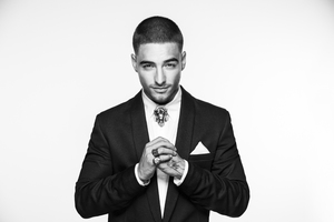Maluma Monochrome 5k Wallpaper
