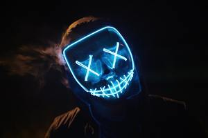 Man Wearing Blue Mask Wallpaper