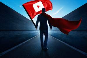 Man With Youtube Flag Wallpaper