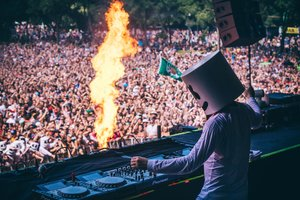 Marshmello Performing At Music Festival 5k Wallpaper