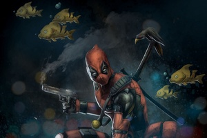 Marvel Deadpool Artwork Wallpaper