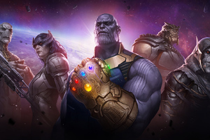 Marvel Future Fight Thanos Childrens Wallpaper