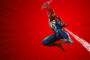 Marvels Spider Man PS4 Theme Art 10k Wallpaper