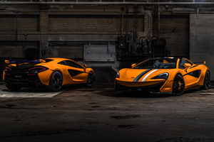 McLaren MSO 570S Spider McLaren MSO 570S Coupe Papaya Spark Wallpaper