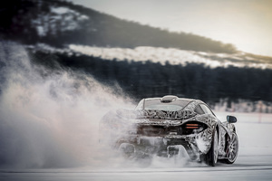 Mclaren P1 Ice Drifting Wallpaper