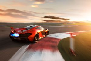 Mclaren P1 On Track 8k Wallpaper