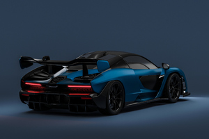 Mclaren Senna Rear 4K Wallpaper
