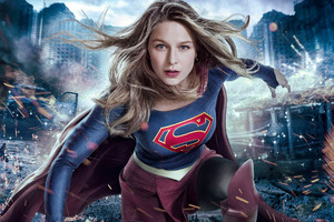 Melissa Benoist Supergirl 2017 Tv Series Wallpaper