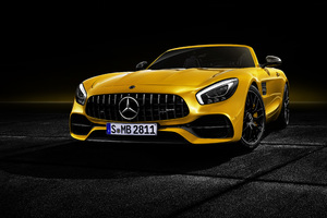 Mercedes AMG GT S Roadster 2018 Front Wallpaper