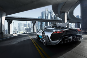 Mercedes Amg Project One Rear 2017 Wallpaper