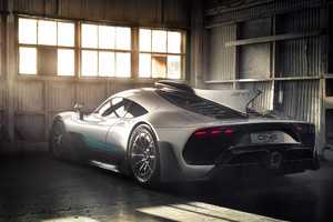 Mercedes Amg Project One Rear Wallpaper