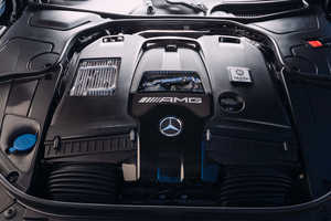 Mercedes AMG S63 2018 Engine View 4k