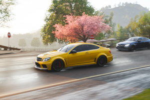Mercedes Benz C63 AMG Coupe In Forza Horizon 4 4k Wallpaper