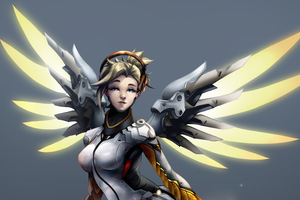 Mercy Overwatch Digital Art 5k Wallpaper