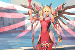Mercy Overwatch Pink Mercy Skin 4k Wallpaper