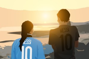 Messi Digital Art Wallpaper